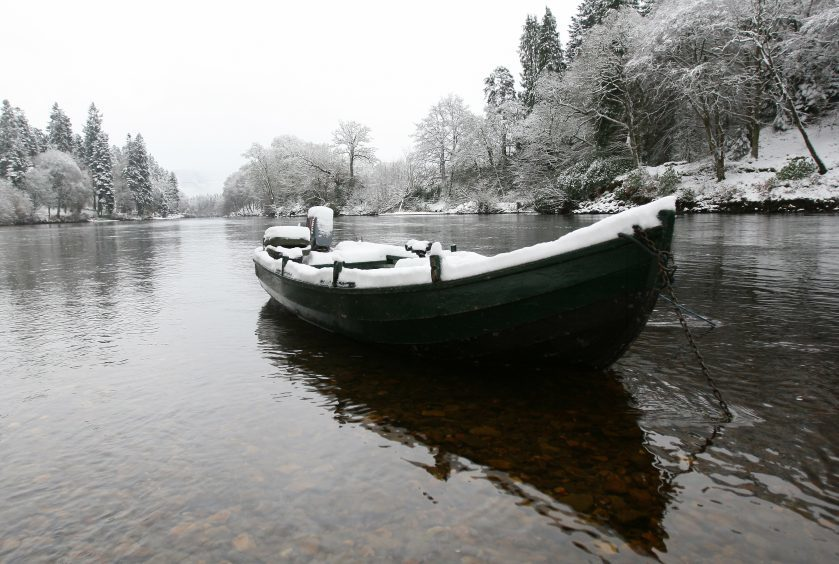 The River Tay at Dunkeld House Hotel in December 2009.