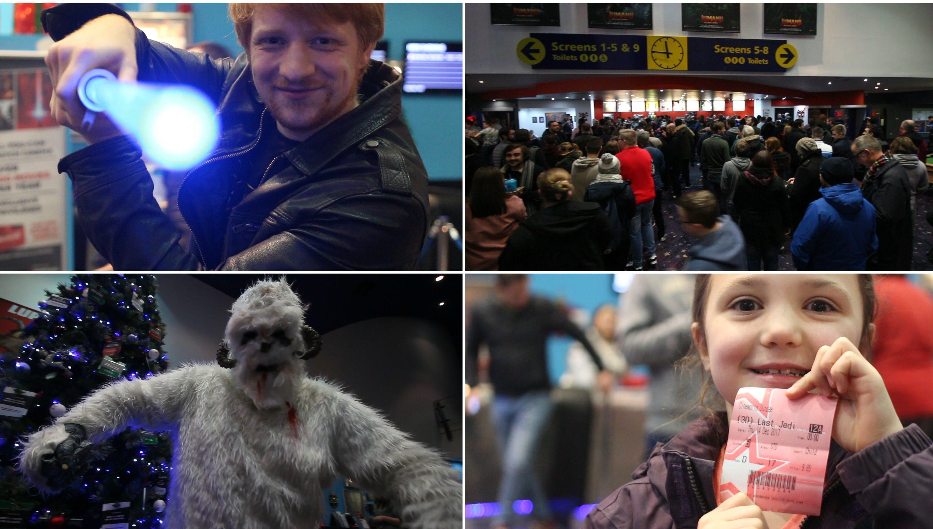 Star Wars fans arrive in Cineworld, Dundee.