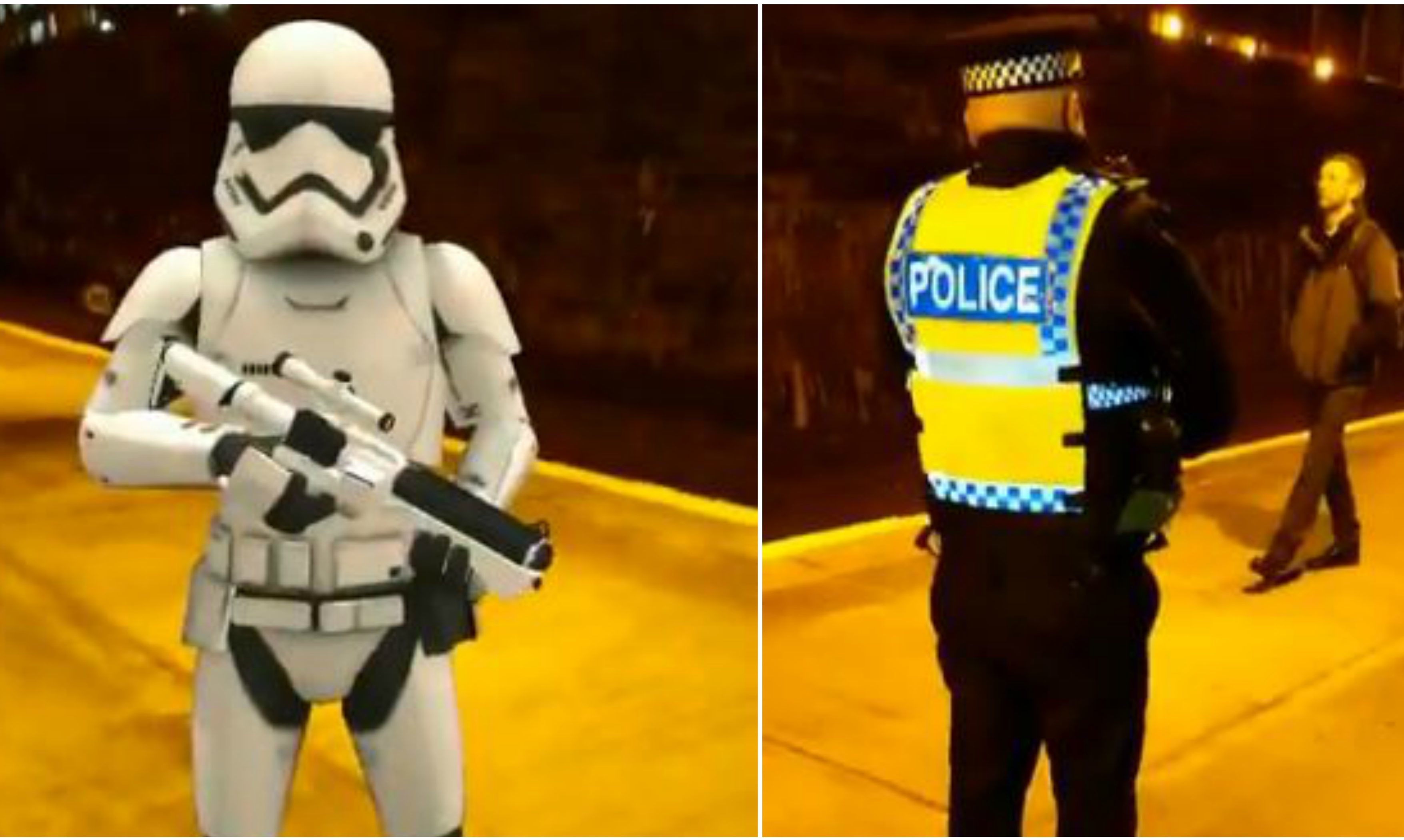 Stormtroopers patrolling Dundee Station