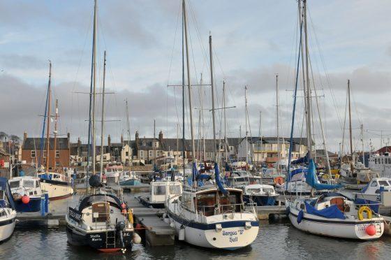 Arbroath harbour.