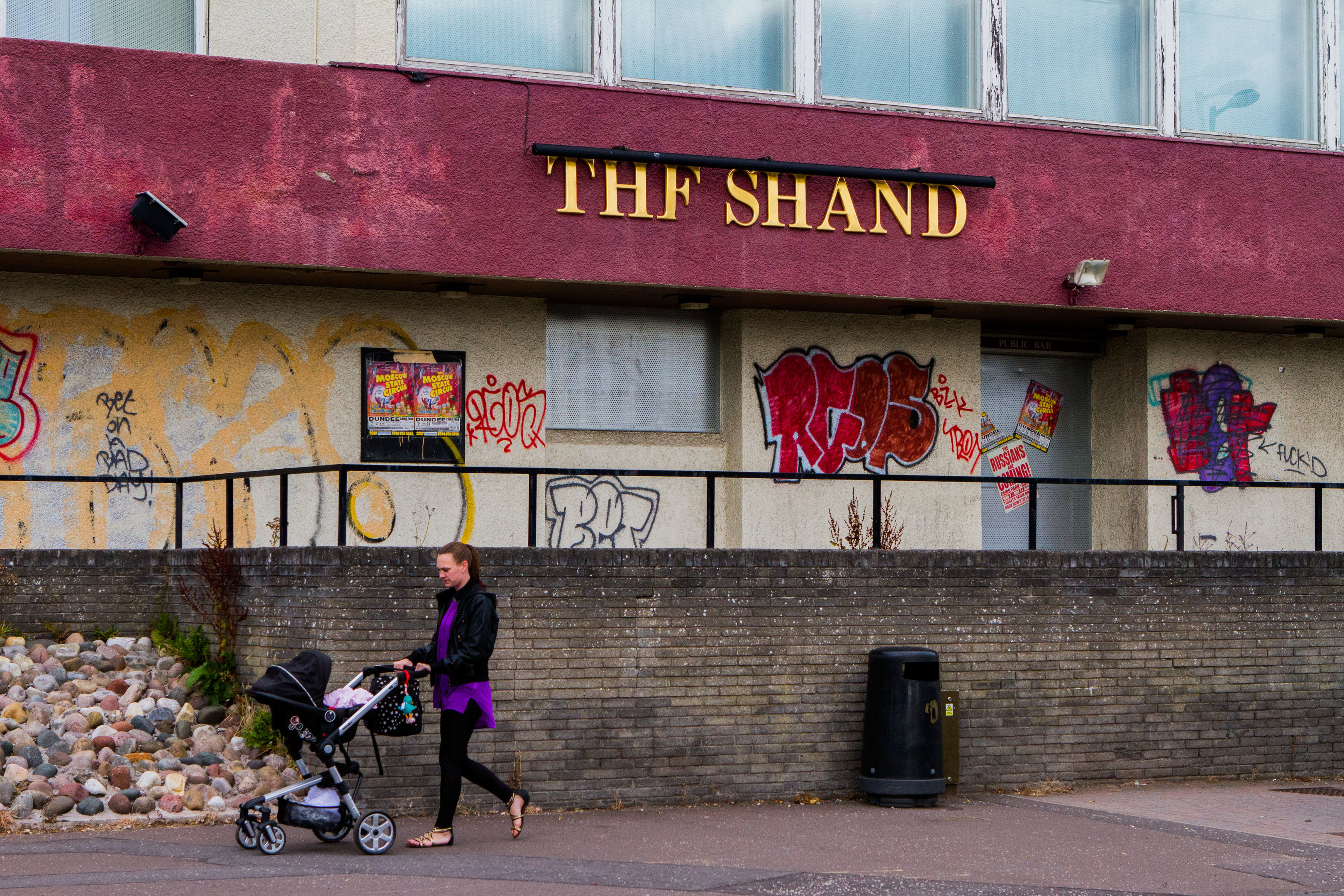 The Shand has often been targeted by vandals.