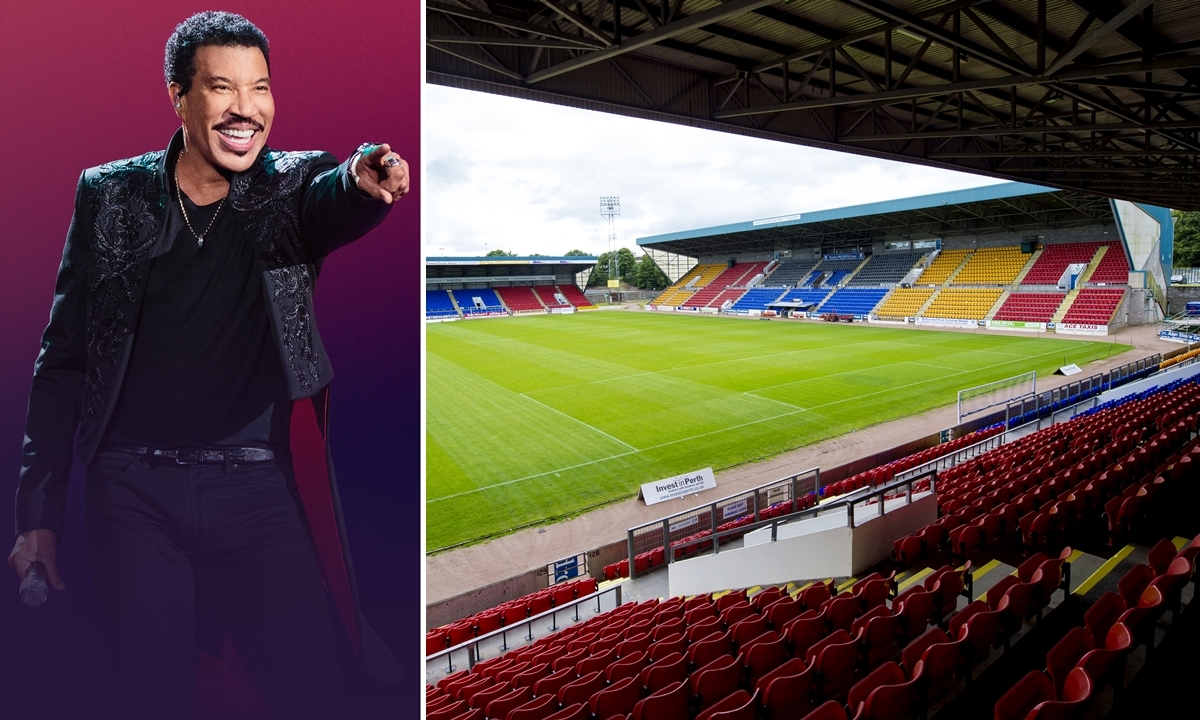 Superstar Lionel Richie is playing McDiarmid Park in the summer.