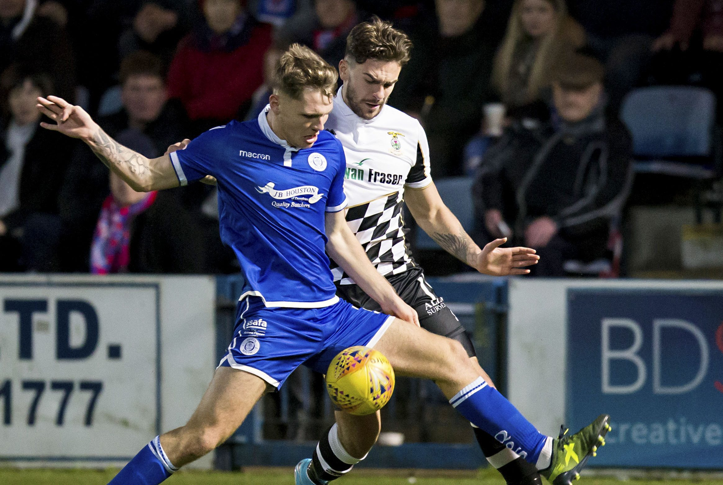 Jason Kerr in action for Queen of the South.