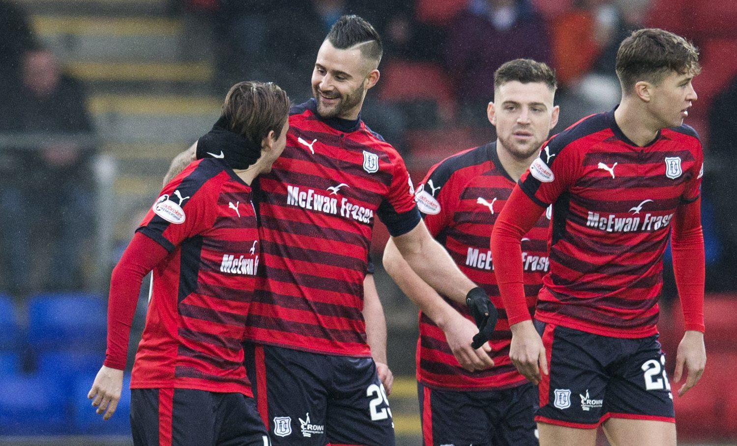 The Dundee players signed off for the winter break with a win in Perth.