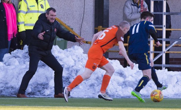 Dundee Utd manager Csaba Laszlo pictured during Saturday's 2-0 victory over Alloa Athletic.