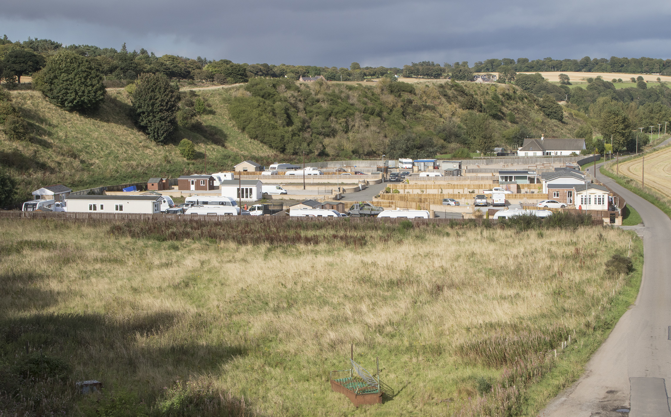 Travellers site at St Cyrus.