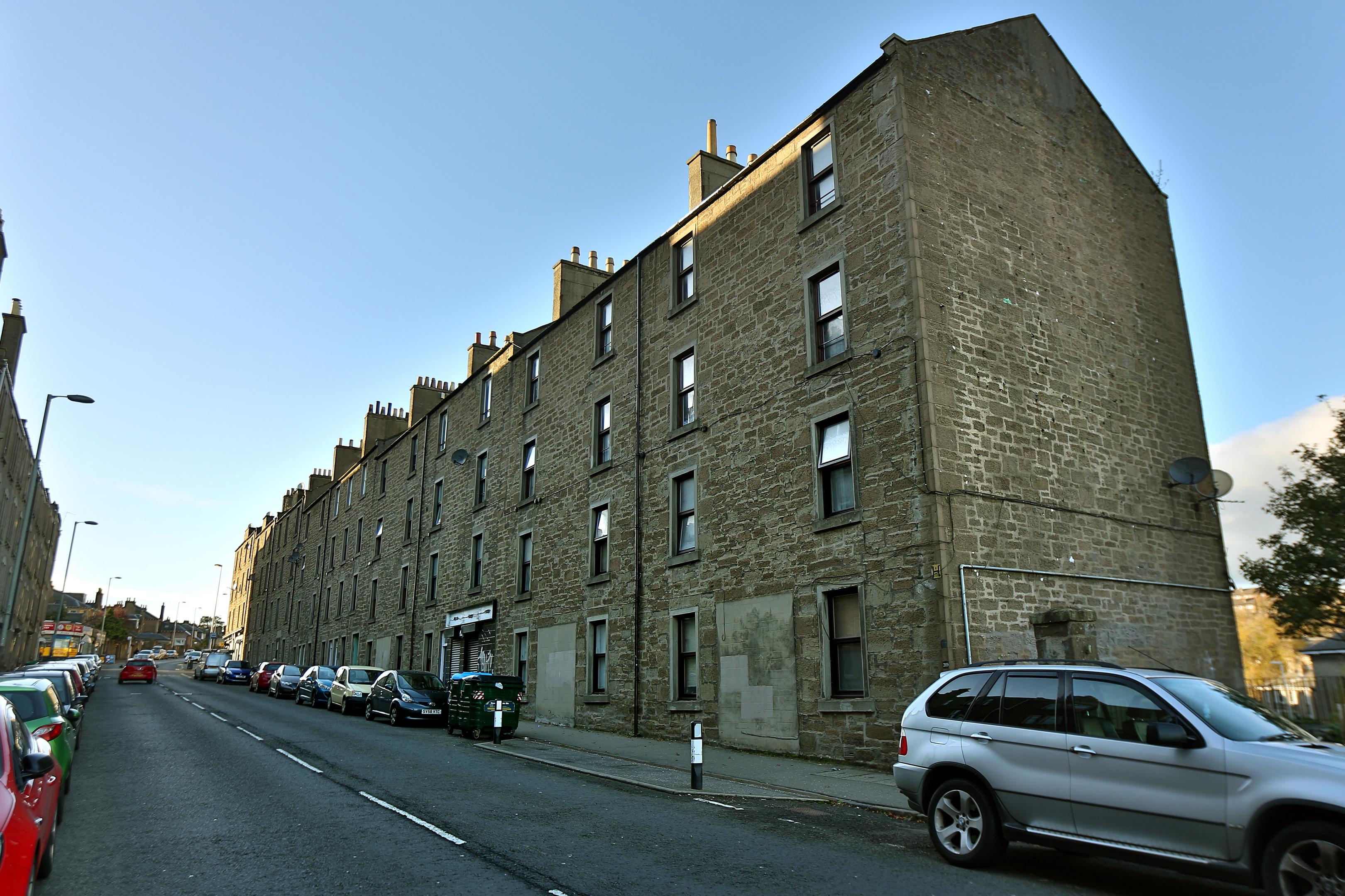 The flats on Blackness Road.