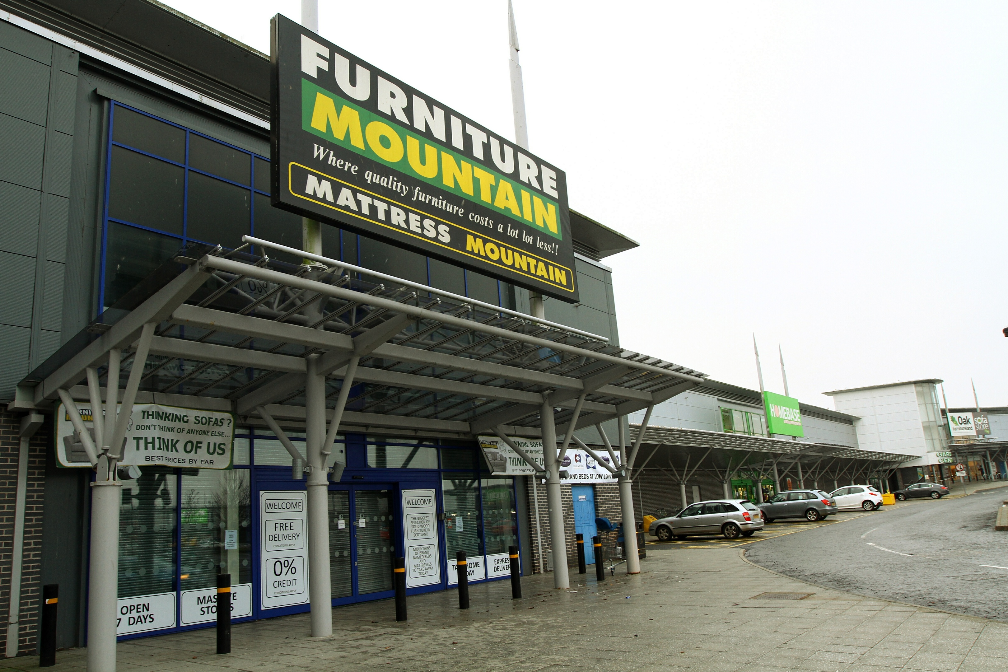 The closed store in the Kingsway retail park.