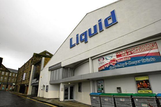 Liquid nightclub in Ward Road, Dundee.