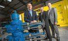 RMEC managing director Bryan Fagan with fellow directors Alan Ramsay and Stuart Mathers