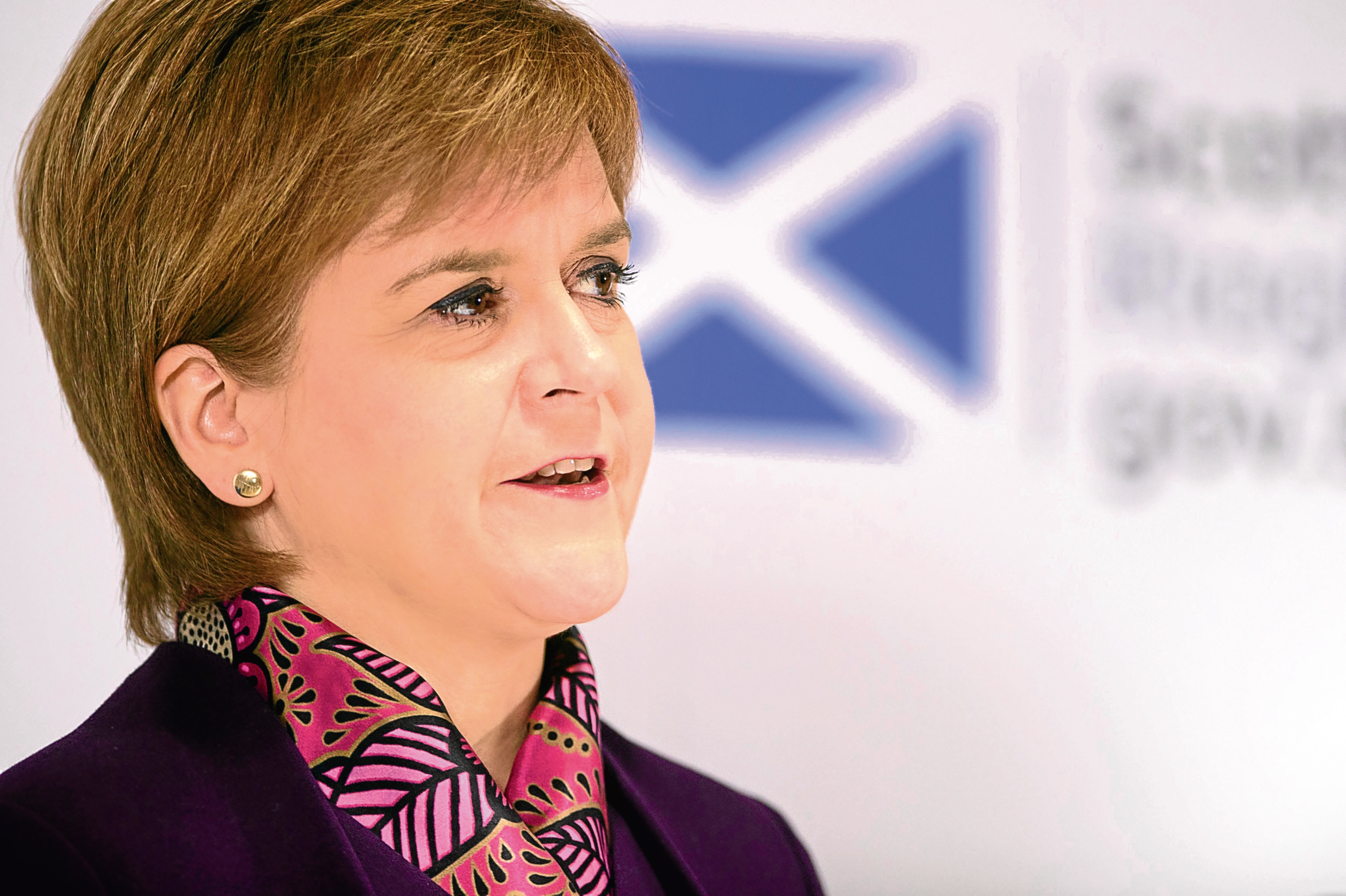 First Minister Nicola Sturgeon speaking at the launch of an analysis paper on Scotland's future relationship with Europe, at the University of Edinburgh. PRESS ASSOCIATION Photo. Picture date: Monday January 15, 2018. See PA story POLITICS Scotland. Photo credit should read: John Linton/PA Wire