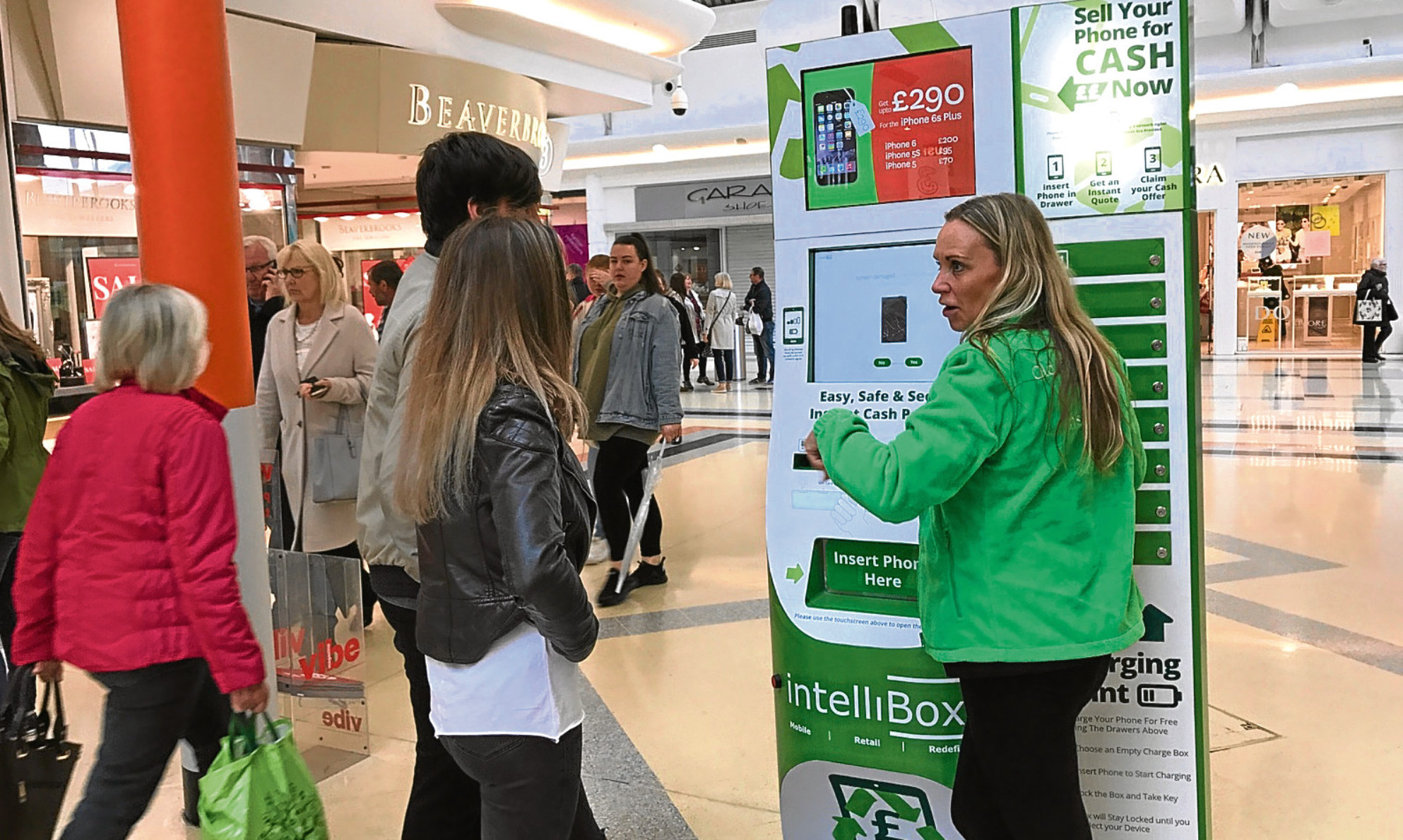 The IntelliBox system is demonstrated to potential customers