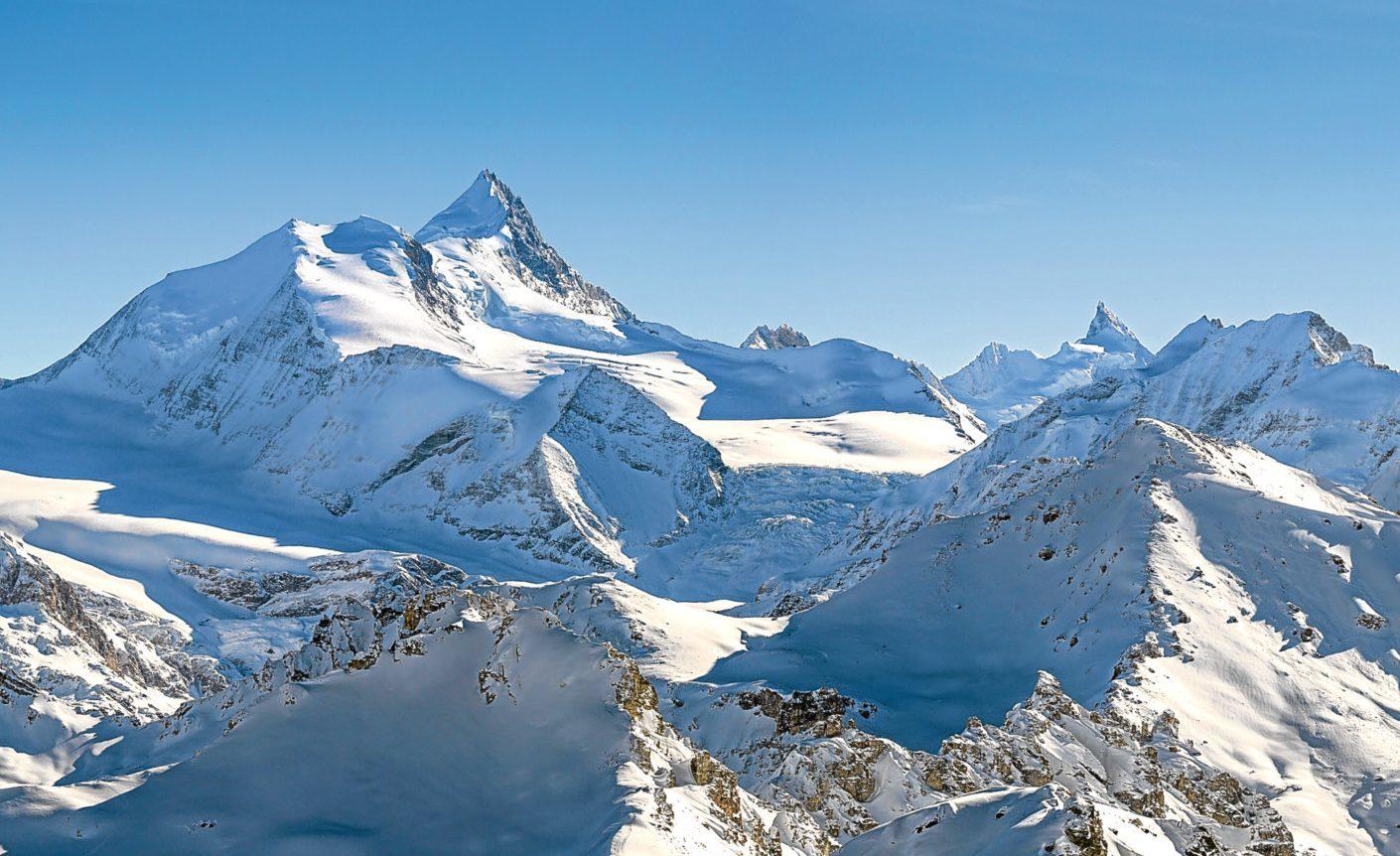 The breath-taking Swiss Alps.