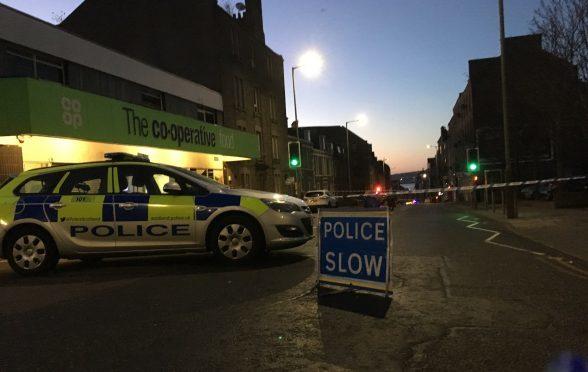 Police on the scene at Albert Street