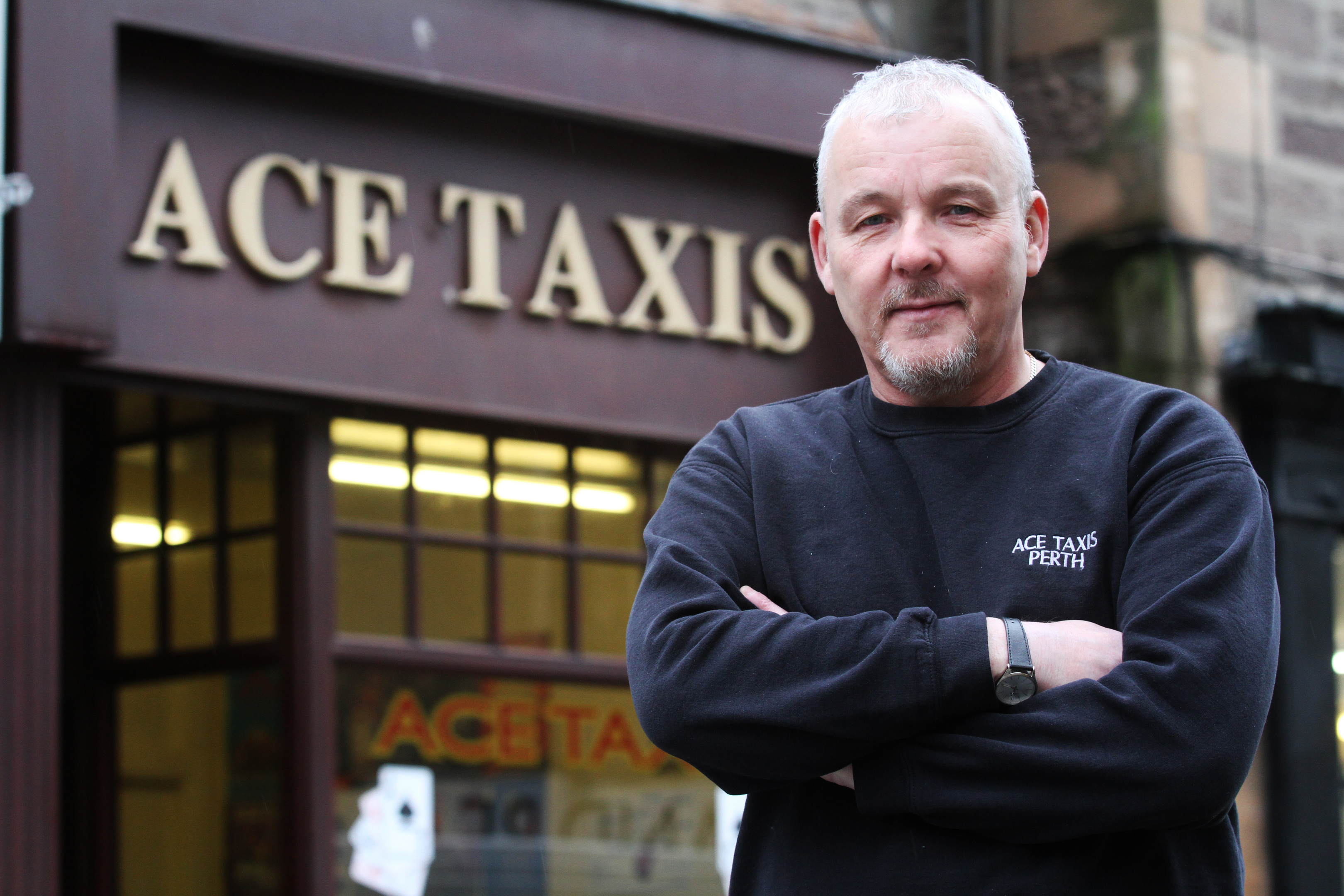 ACE Taxis' Andy Lothian. CCTV has been installed in all the firm's cars but fare dodging and abuse of drivers is still on the rise.