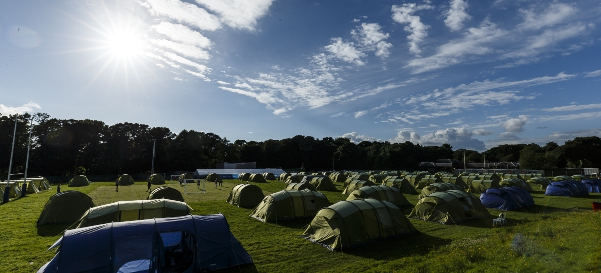 The campsite pictured during a previous Championship.