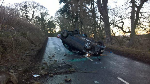 The scene of Saturday's crash