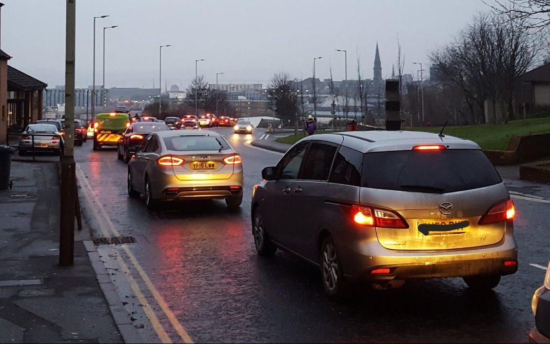 Traffic on Blackscroft Road