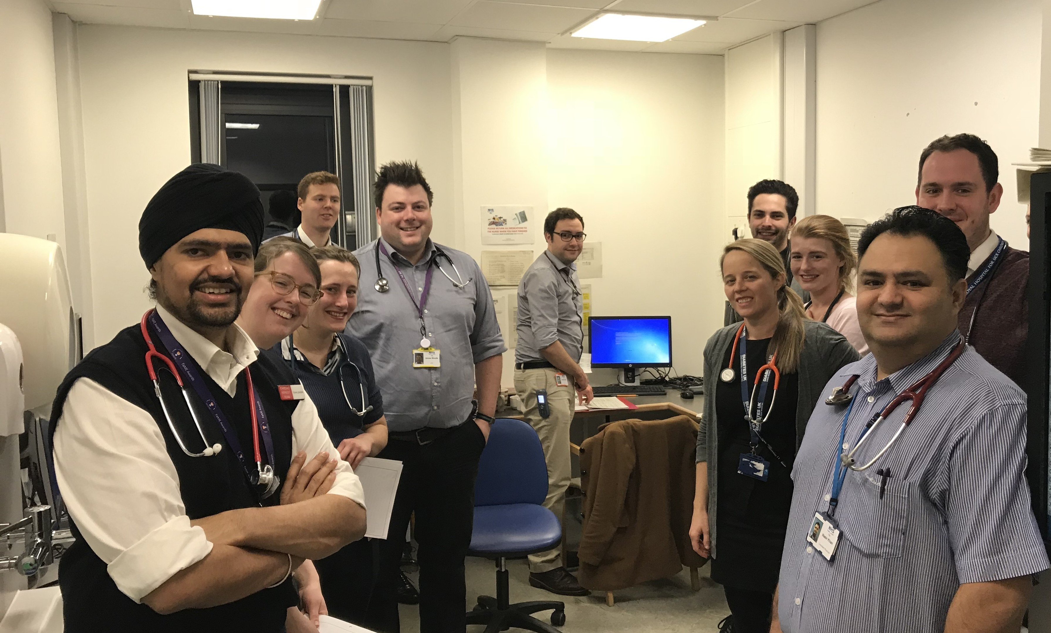 Some of the medical team who came in on Saturday morning - Jagdeep Singh, Rebecca Patton, Sophia Henderson, Grant Milne, James Woods, Lewis Gray, Karl Bonello,  Emma Turtle, Sophie Knights, Malcolm Scobbie, and Nasir Khan