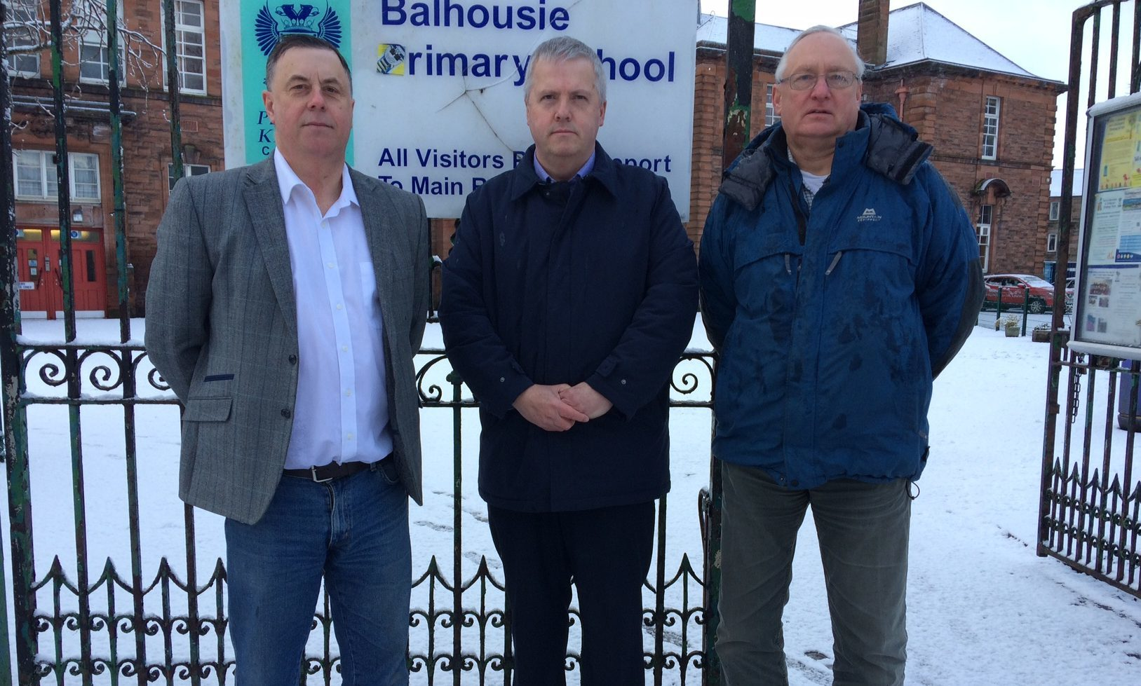 Councillors met at Balhousie Primary on Friday morning