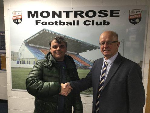 Sergey with club chairman John Crawford.