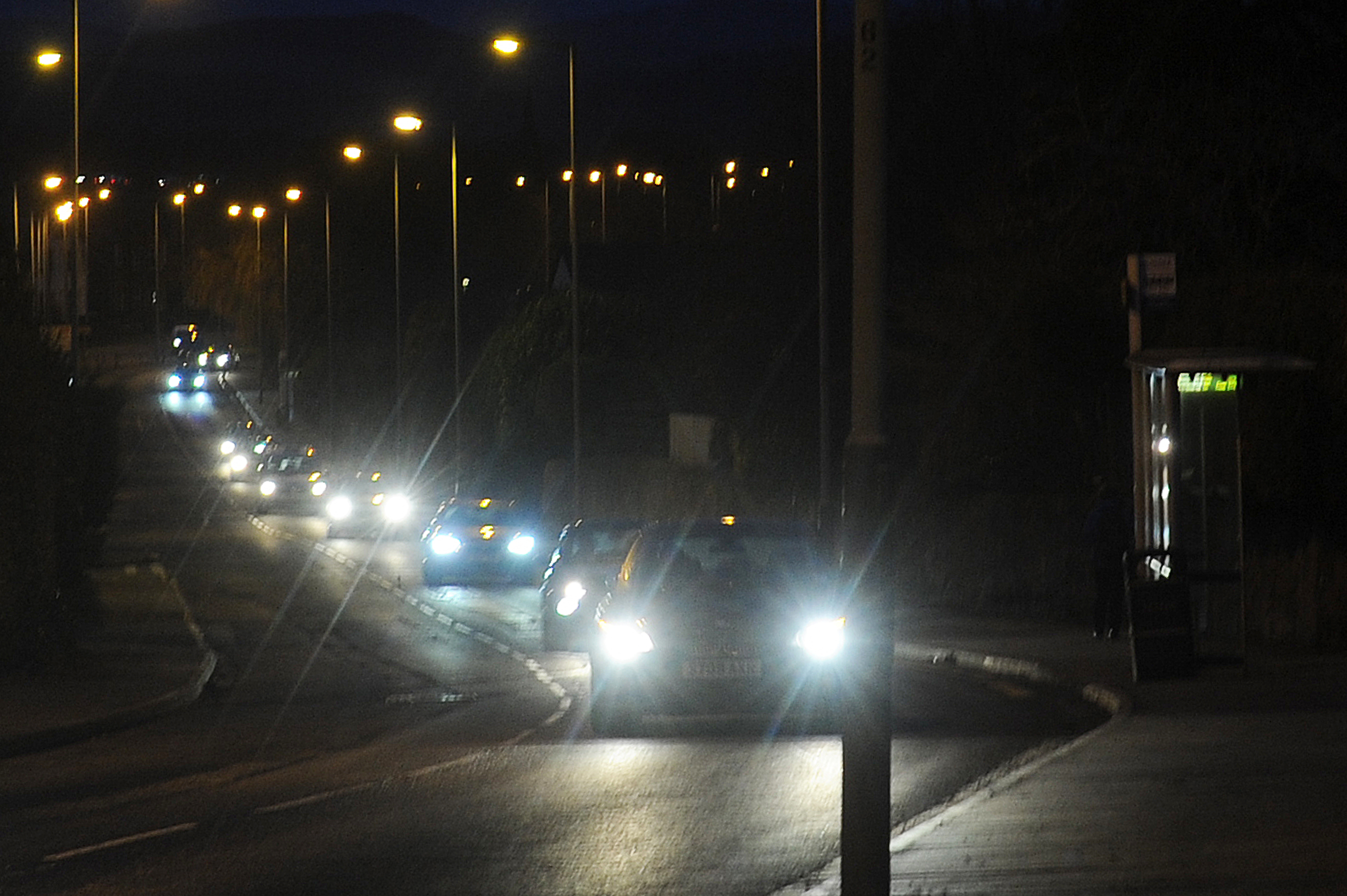 Cars making their way along Perth Road, Dundee.