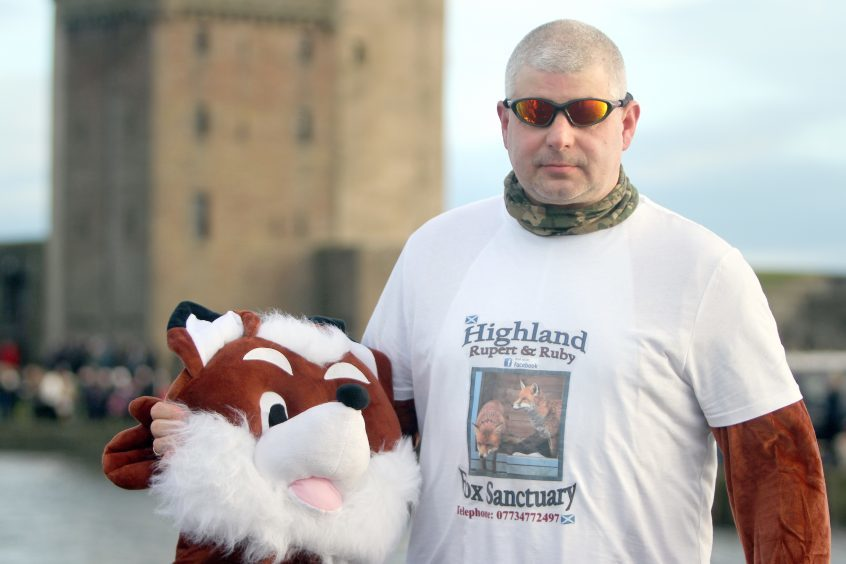 Mike Robertson raising money for the Highland Fox Sanctuary