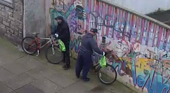 CCTV image of the two men involved in the robbery