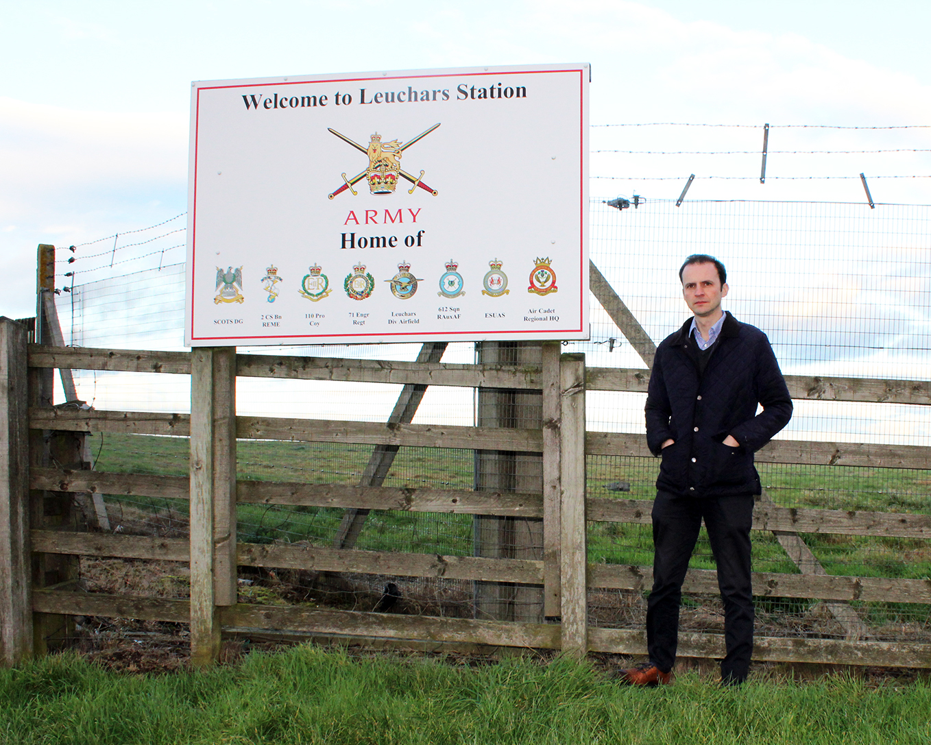 Stephen Gethins pictured at Leuchars Station.