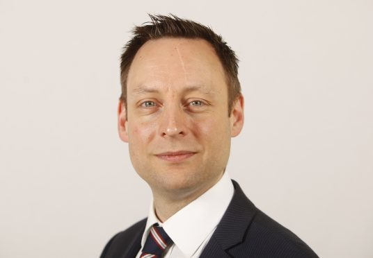 Tory justice spokesman Liam Kerr, who employed Greg Jamieson after he was sacked by Police Scotland.
