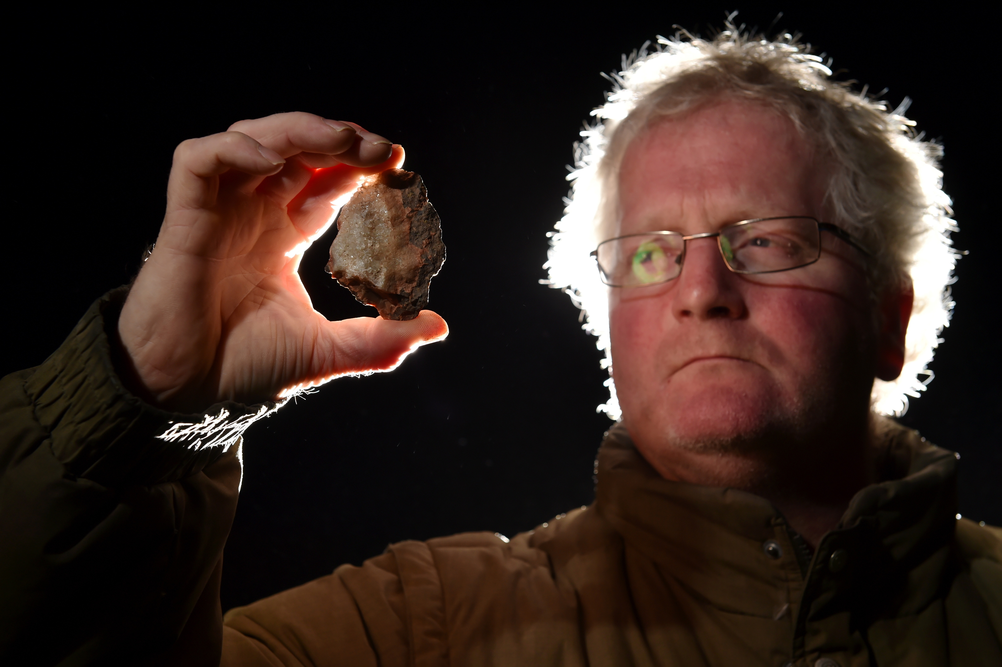 Glyn Lewis was out walking near Montrose at the weekend and found what he believes is meteor fragments.