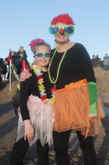 Arella Smith and Annemarie Smith at the Carnoustie dook.