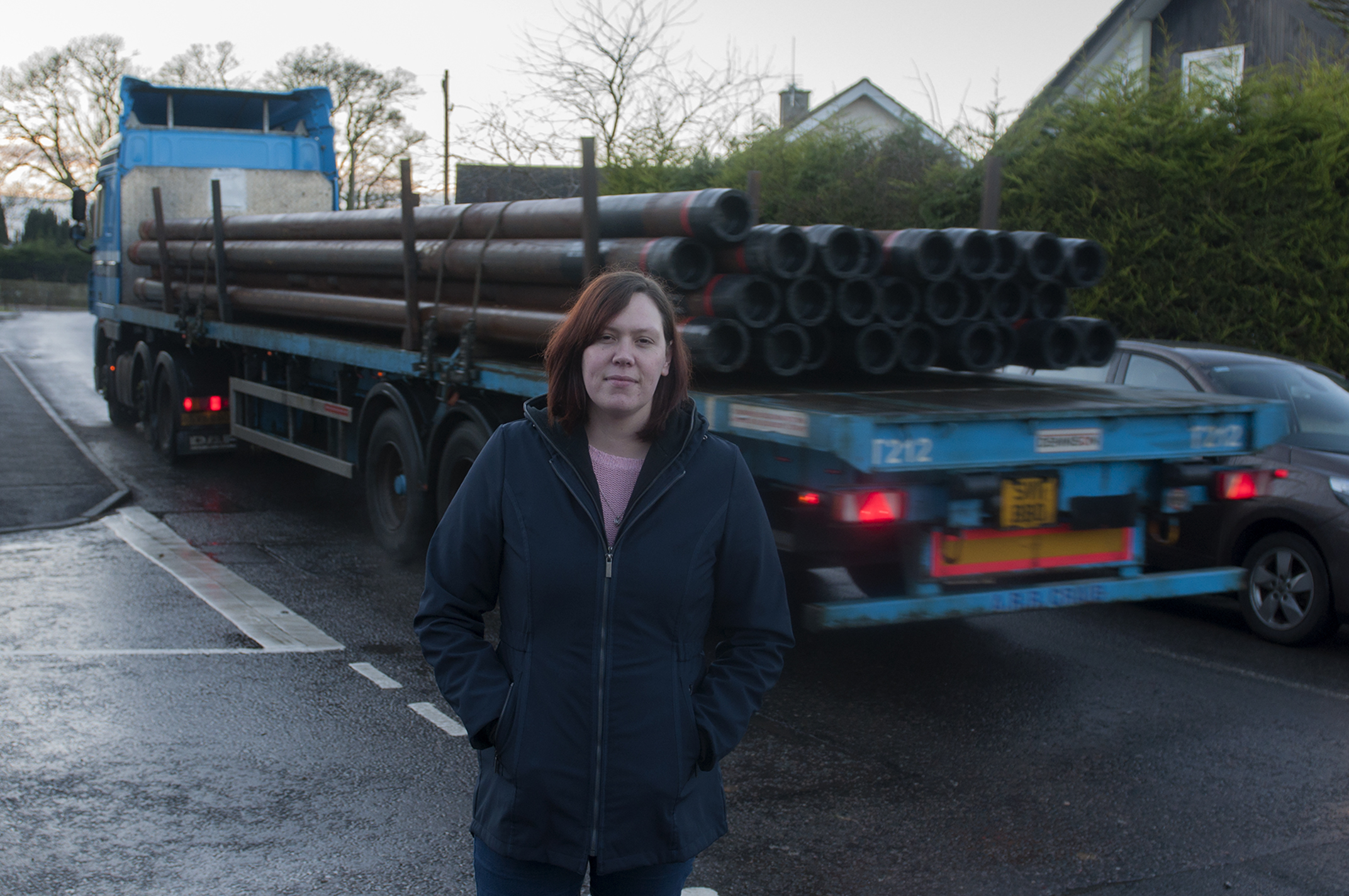 Mum Kellie Doig is leading the campaign for safety measures in Marykirk