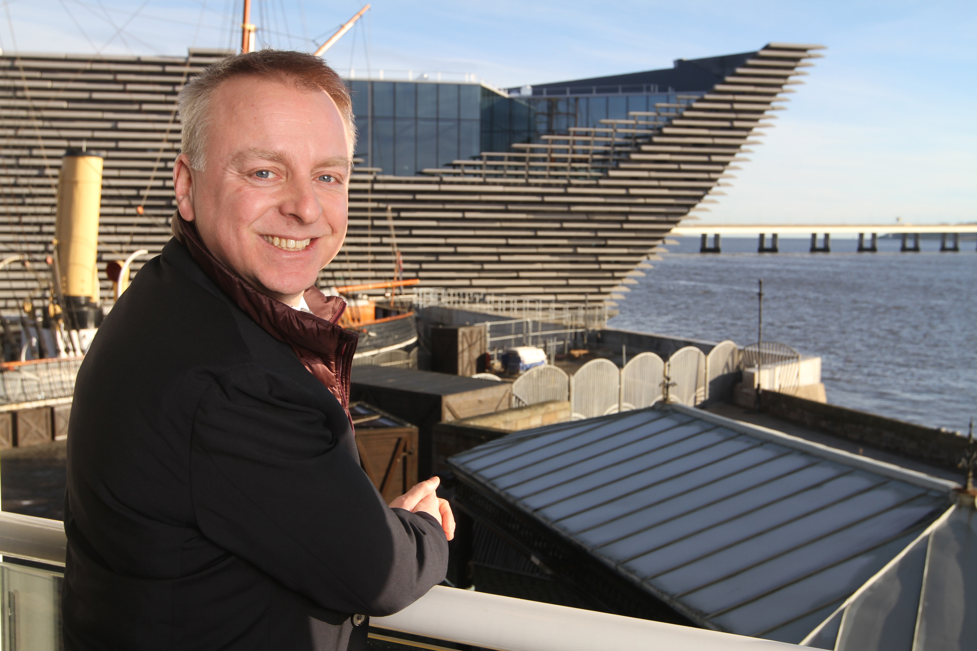 Philip Long outside the V&;A museum in Dundee.