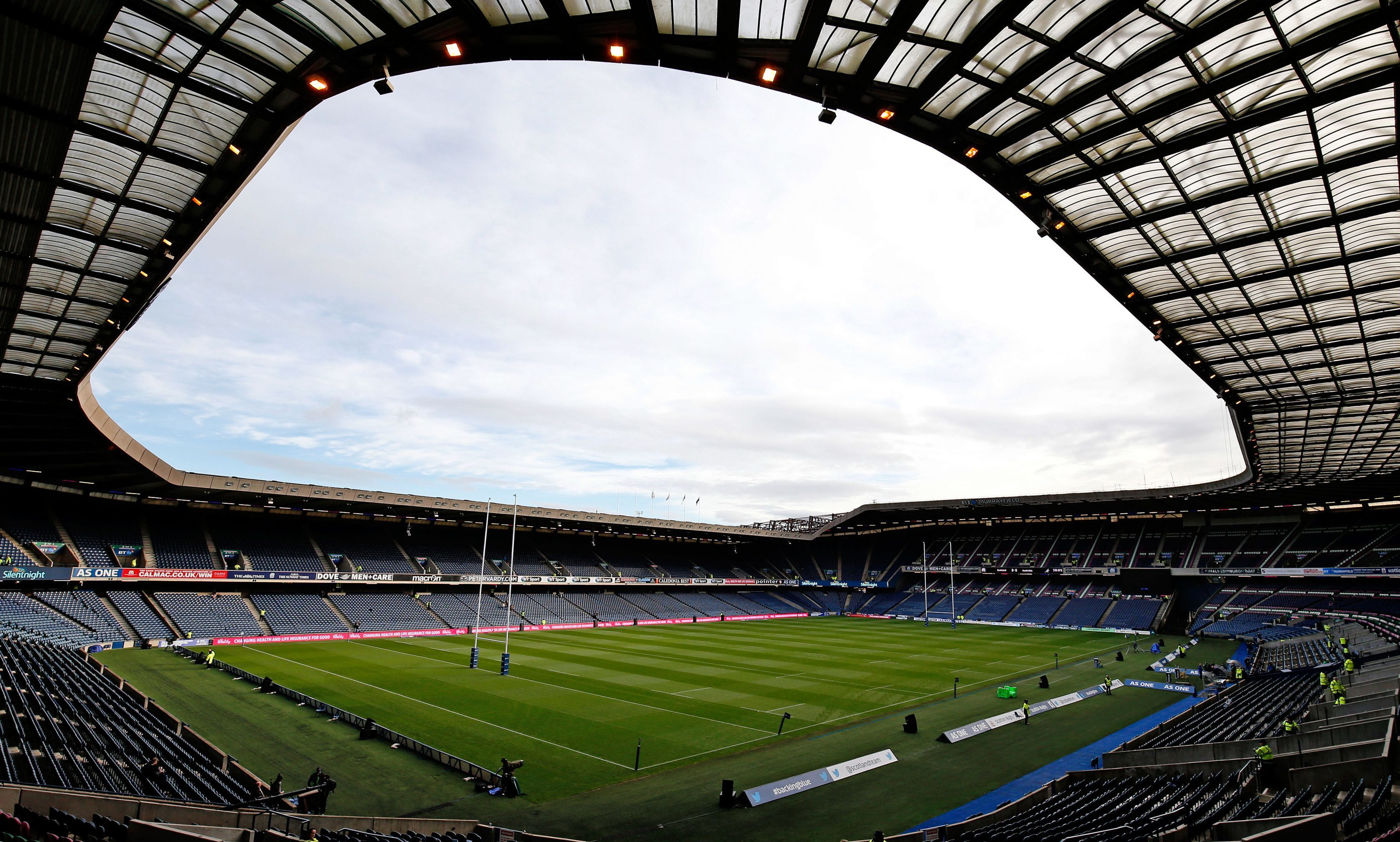 The BT Murrayfield Stadium, Edinburgh.