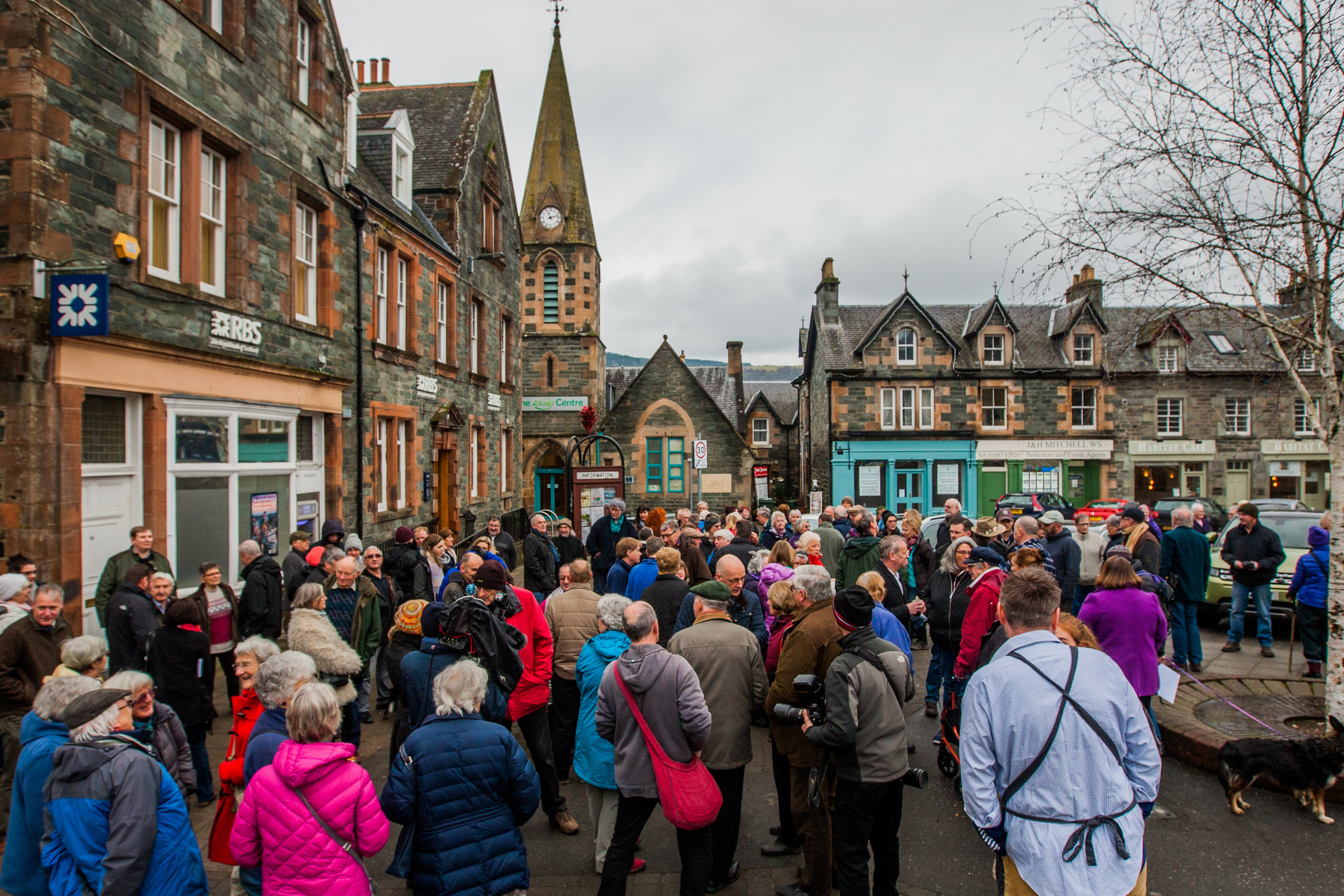 Protests at Aberfeldy