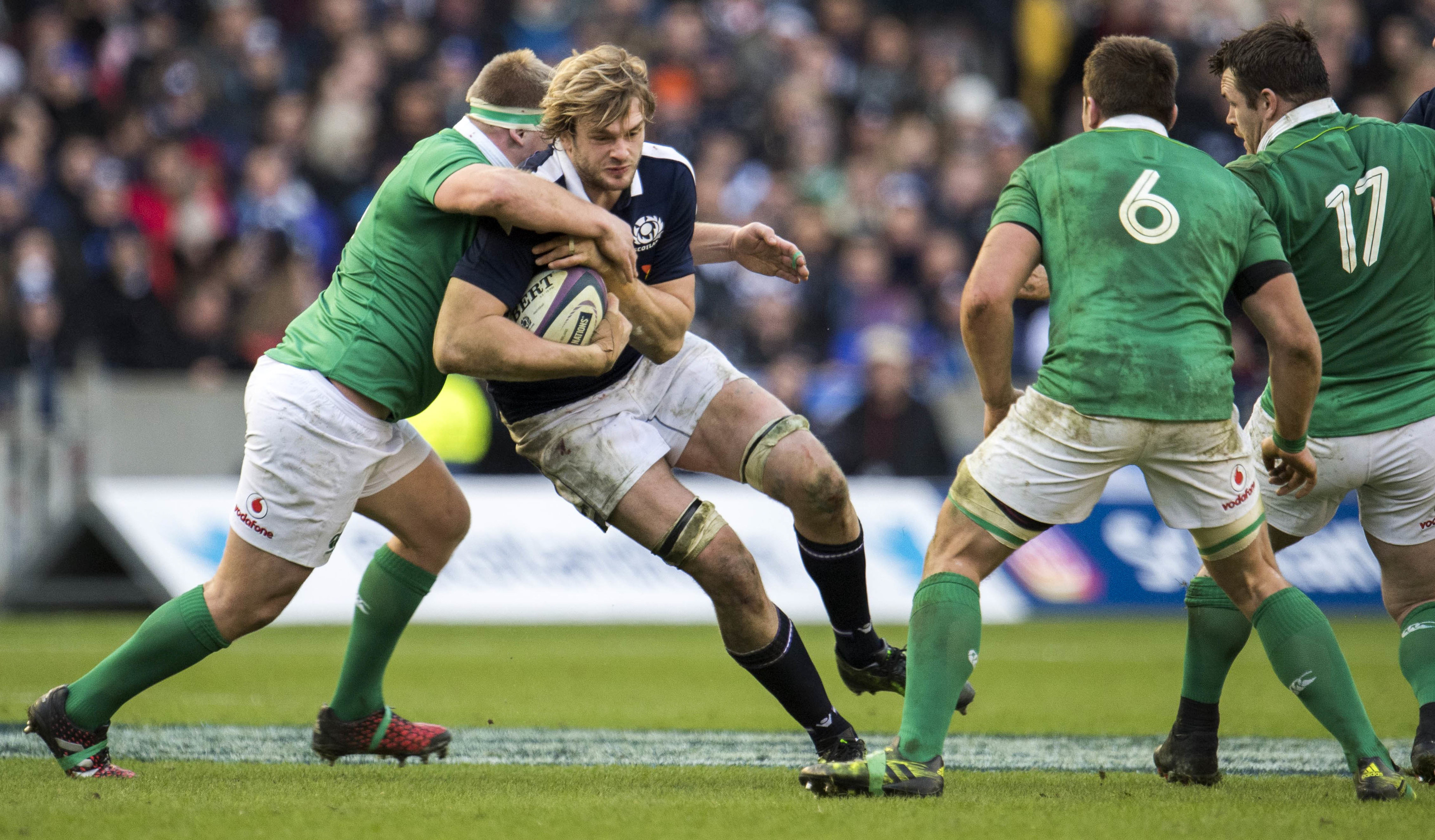 Richie Gray will miss the Six Nations opener against Wales and maybe more with a calf strain.