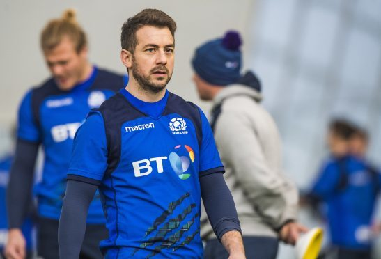 Greig Laidlaw was at Scotland training at Oriam less than 24 hours after playing for Clermont-Auvergne.