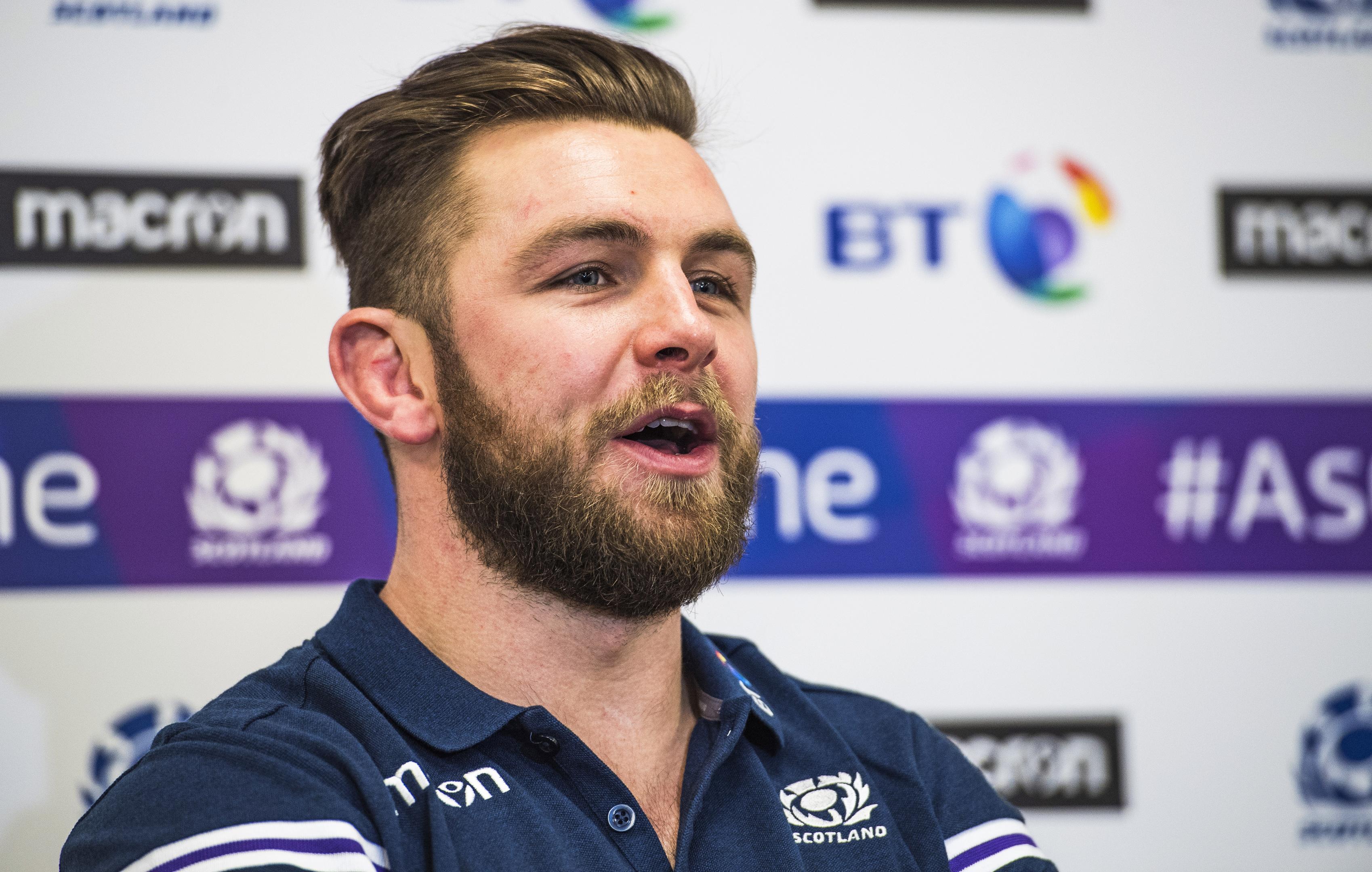 Scotland's Ryan Wilson was in good spirits talking to the media at Oriam.