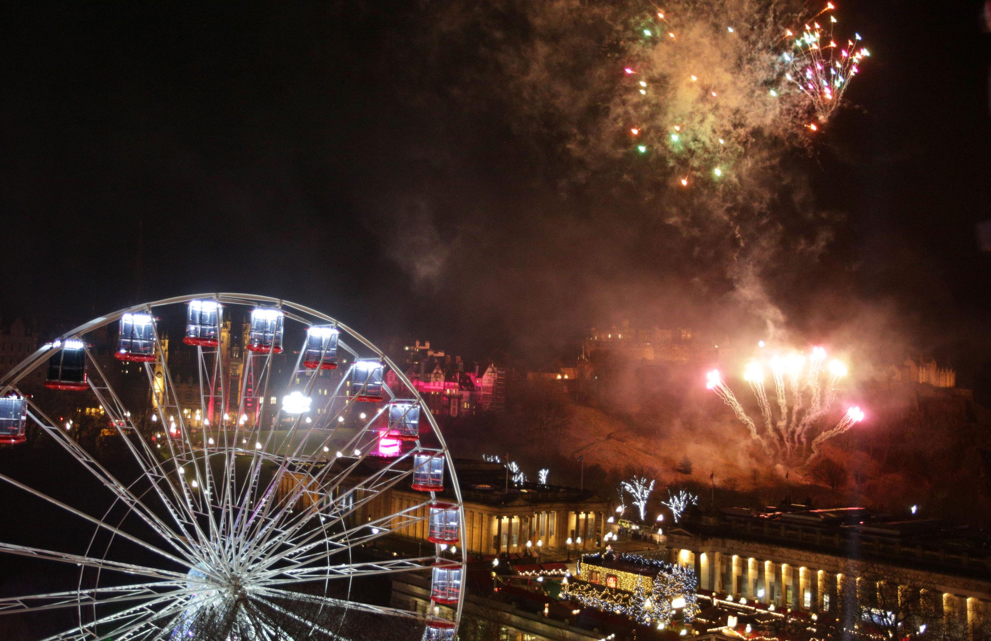Fireworks light up the sky in Edinburgh