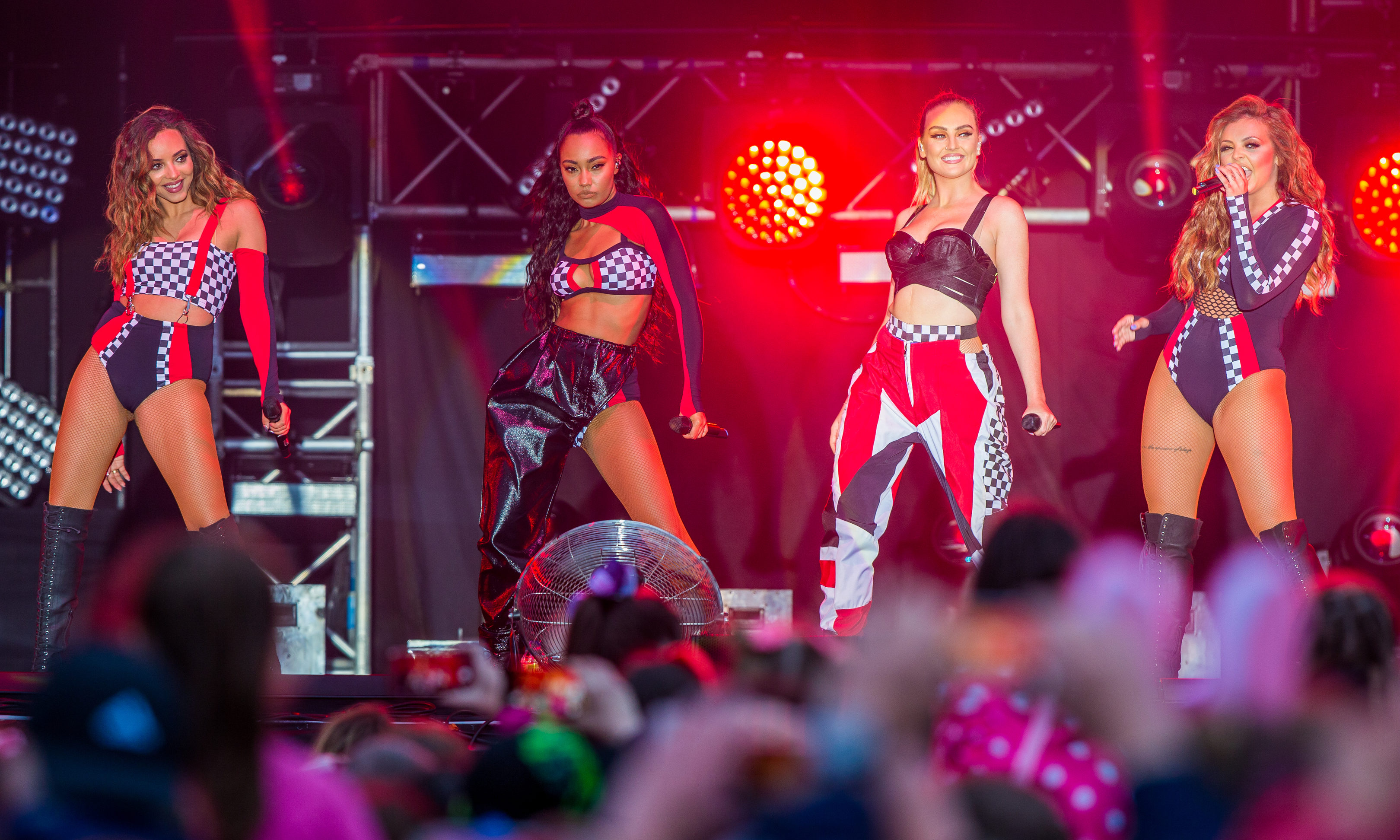 Little Mix at Slessor Gardens in 2017.
