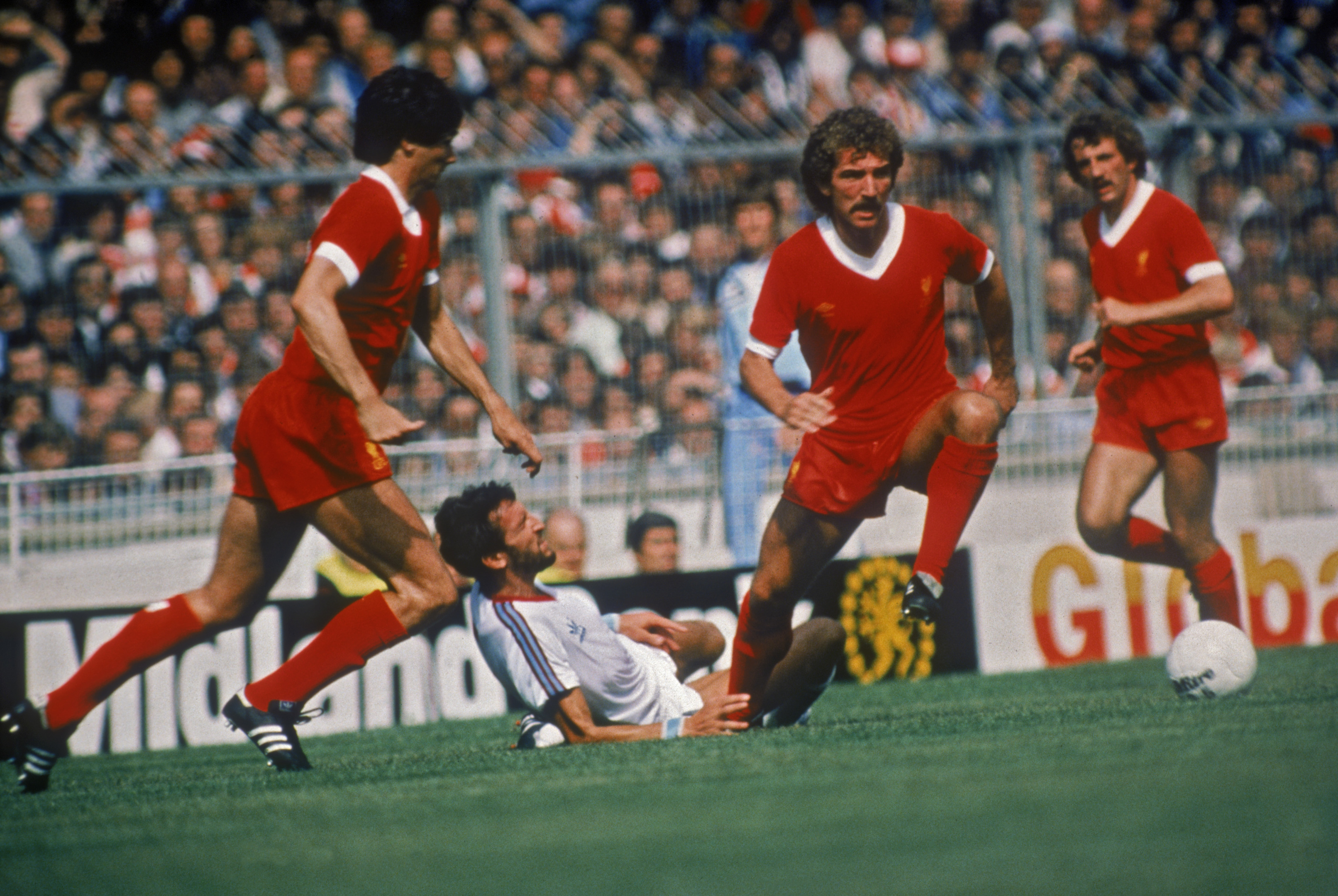 A fine leader? Graeme Souness on the ball for Liverpool where he won three European Cups and five league titles.