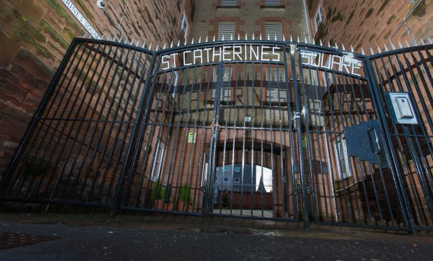 The entrance to St Catherines Square, Perth.