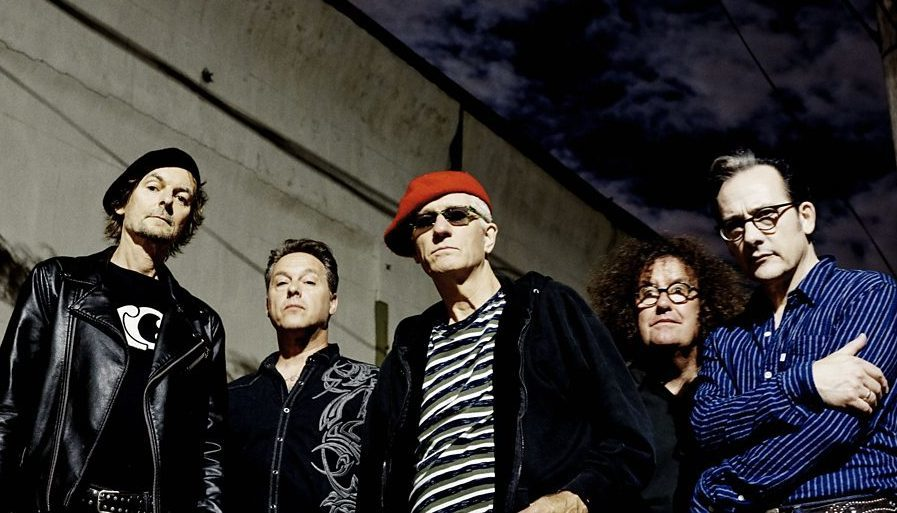 Paul Gray, Pinch, Captain Sensible, Monty Oxymoron and David Vanian of The Damned