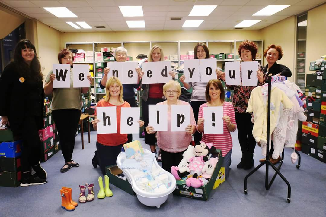 Togs for Tots volunteers in an appeal for donations