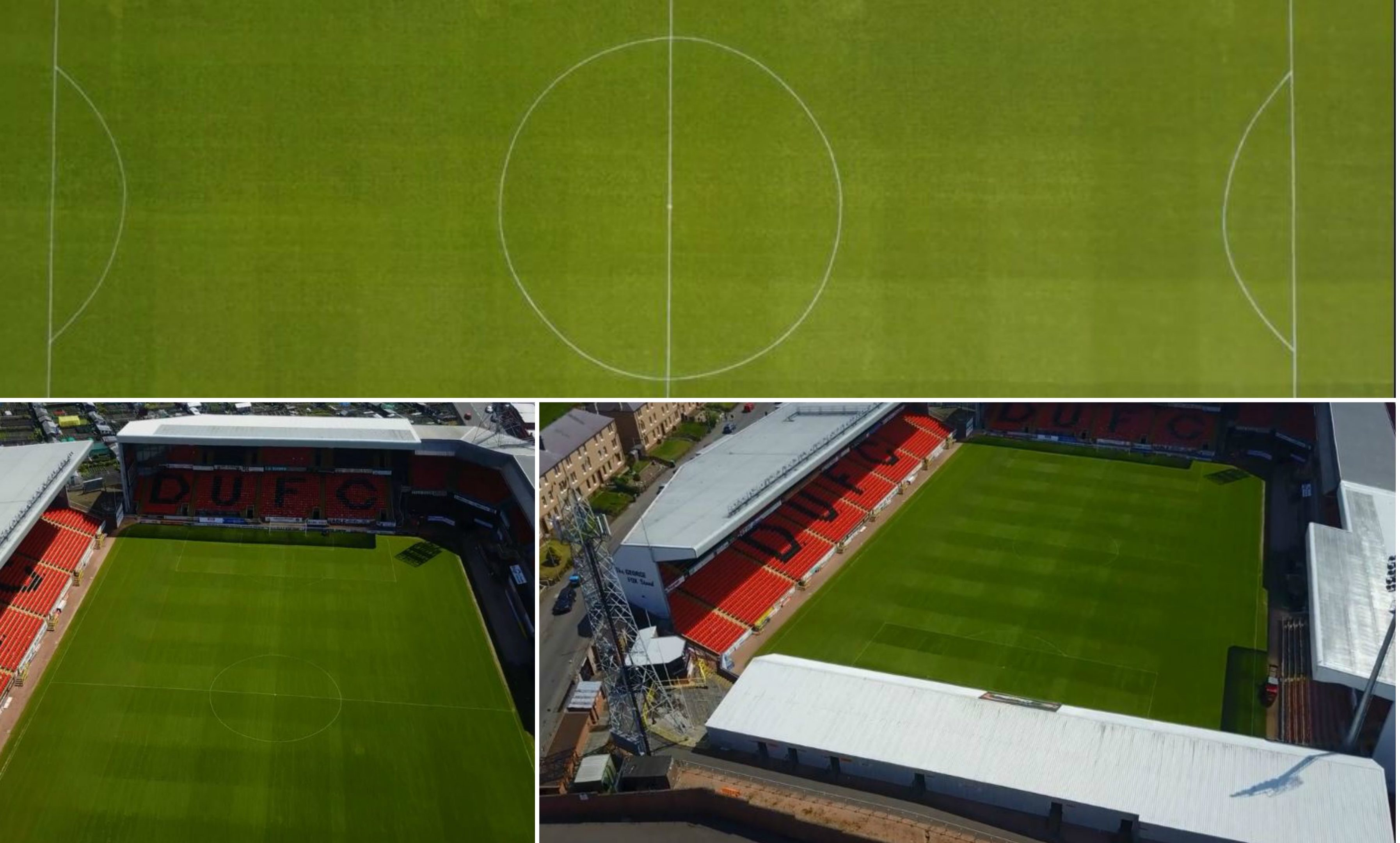 Simon Thornbury's drone footage of Tannadice