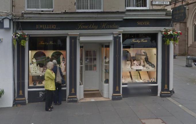 Timothy Hardie's store on St John Street.