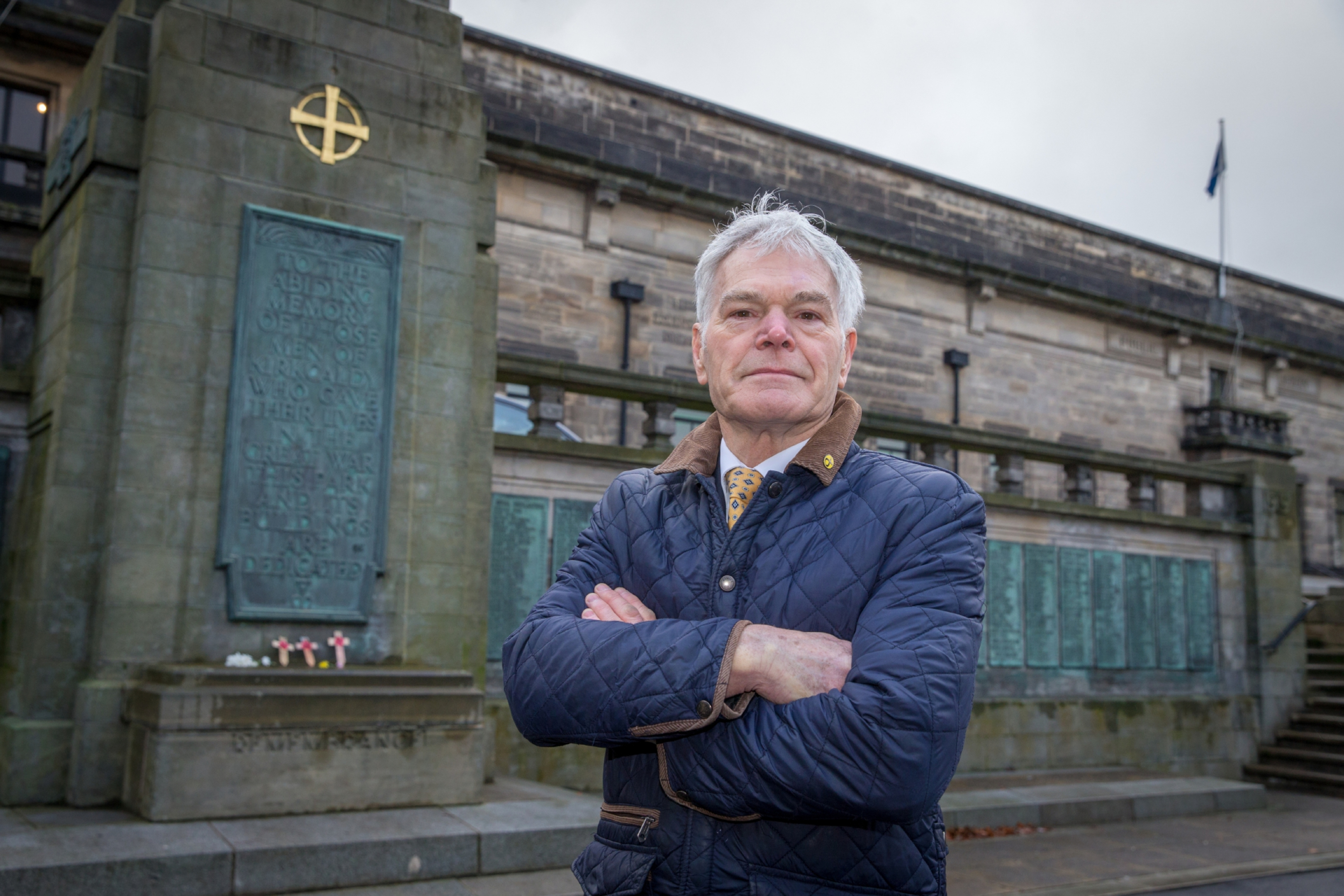 Fife's armed forces champion, Rod Cavanagh, has hit out at vandalism at Kirkcaldy war memorial.