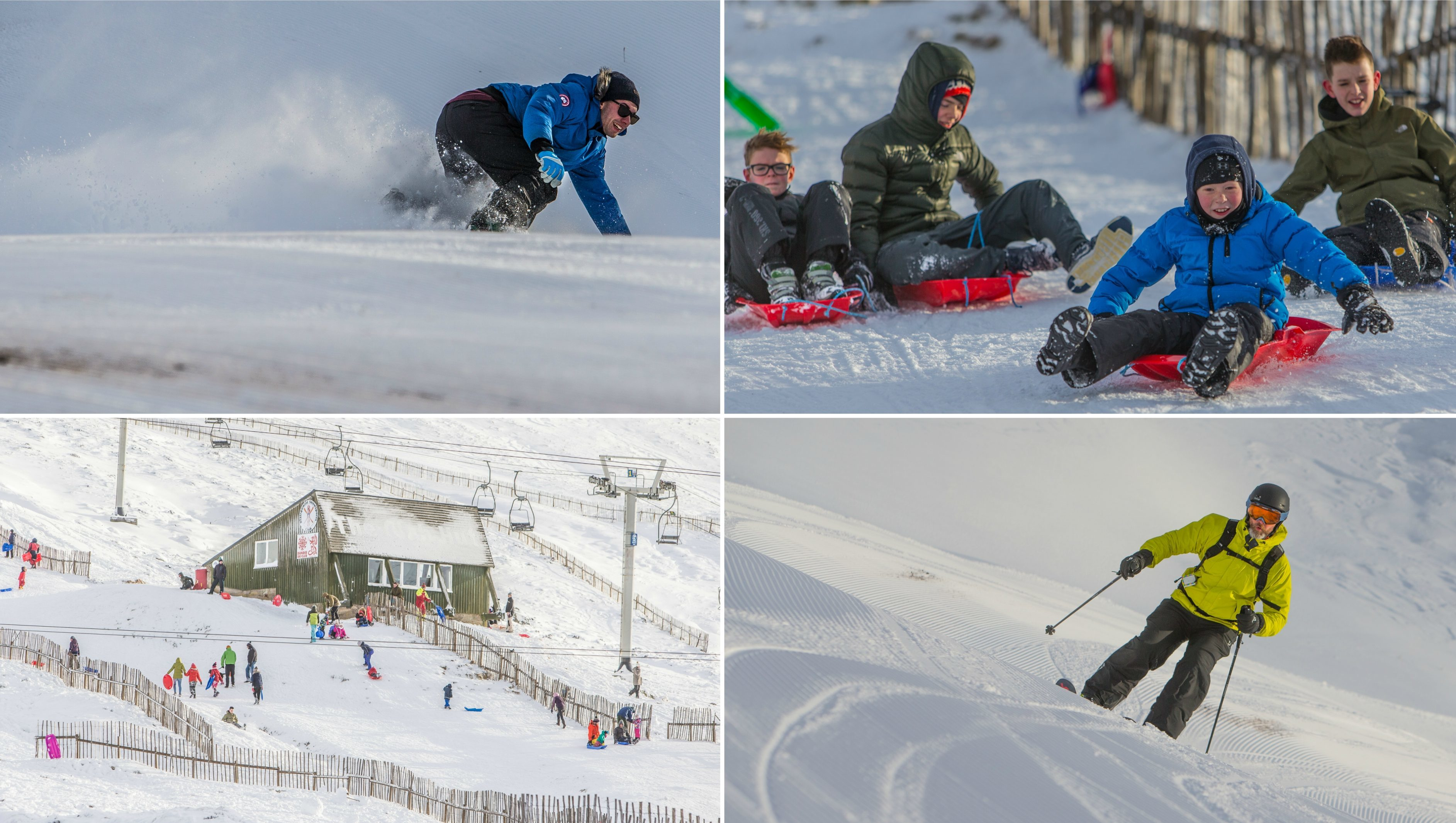 Conditions were perfect at Glenshee Ski Centre.