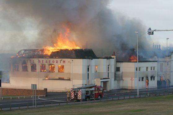 Fire ripped through the Seaforth Hotel in 2006.